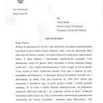 List otwarty Artur Dębski p1